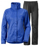 Didriksons Main Womens Set, Rain Suit, blue