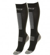 Seger Zone, Mens Ski Socks, 2-pair, black