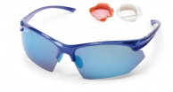 Demon Warrior sunglasses w. 3 set lenses, blue