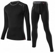 Löffler Transtex-wool Long underwear set, men, black