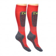 Deluni junior ski socks, 2 pairs, red