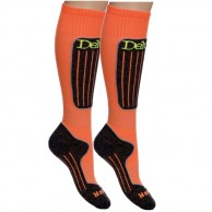 Deluni ski socks, 2 pairs, orange