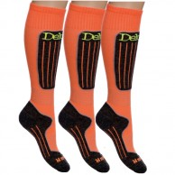 Deluni ski socks - 3 pairs, orange