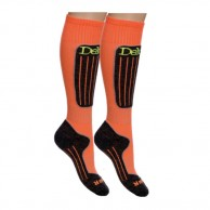 Deluni junior ski socks, 2 pairs, orange