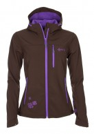 Kilpi Elia, womens soft shell jacket, brown