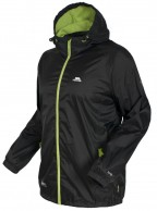 Trespass Qikpac, black, unisex rainjacket