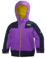 Helly Hansen K Velocity kids and junior jacket, purple/black