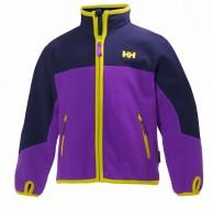 Helly Hansen K Fleece Jacket for kids and junior, purple/blue