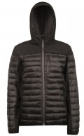 Protest Update, mens soft shell jacket, black