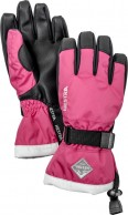 Hestra Gauntlet junior ski gloves, pink