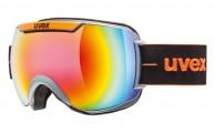 Uvex Downhill 2000, Ski goggles, full mirror, black/orange