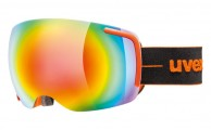 Uvex Big 40, Ski goggles, full mirror, orange