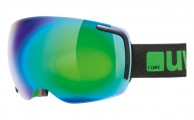 Uvex Big 40, Ski goggles, full mirror, black/green