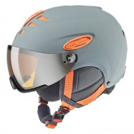 Uvex hlmt 300 ski helmet with Visor, grey/orange