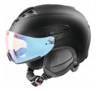 Uvex hlmt 300 Vario, ski helmet with Visor, Black