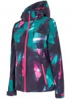 4F Chloe womens ski jacket,  allover printed