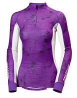 Helly Hansen W  Warm Freeze 1/2 Zip, purple print