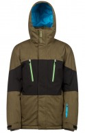 Protest Insider mens ski jacket, green/grey