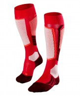 Falke SK2 Wool ski socks, women, red