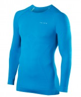 Falke Maximum Warm Longsleeved Shirt Tight Fit, men, blue
