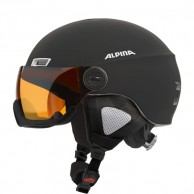 Alpina Menga JV ski helmet with Visor, Matt Black