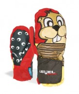 Level Animal Mitt, red/black