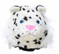 CrazeeHeads helmet cover, Zippy The Snow Leopard