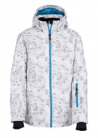 Kilpi Genovesa JG, junior ski jacket for girls, white with print
