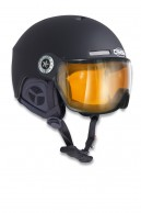 Osbe New light R, ski helmet with Visor, mat black