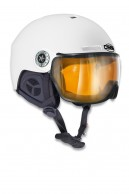 Osbe New light R, ski helmet with Visor, mat white