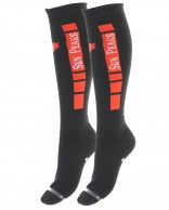 Sun Peaks Moby, Cheap Ski Socks, grå/red, 2-pair