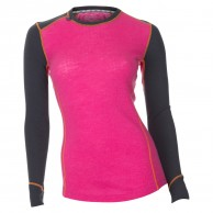 Ulvang Glimt Round neck, womens, Beetroot/Granite