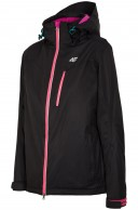 4F Clara womens ski jacket, black