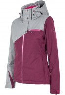 4F Ava womens ski jacket,  grey/violet