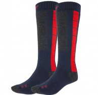 4F Cheap Mens Ski Socks, 2-pair, blue/red