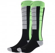 4F Cheap Mens Ski Socks, 2-pair, black/green