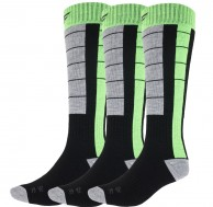4F Cheap Mens Ski Socks, 3-pack, black/green