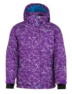 Kilpi Niesko JG, junior ski jacket for girls, violet with print