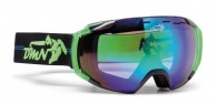 Demon Storm ski goggle, black/green