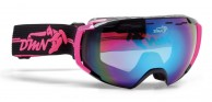 Demon Storm ski goggle, black/fucsia