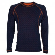 Ulvang 50Fifty Round neck Ms, mens, New Navy/Red Orange