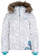 Kilpi Ophelie-W, womens ski jacket with print, white