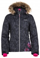 Kilpi Ophelie-W, womens ski jacket with print, black