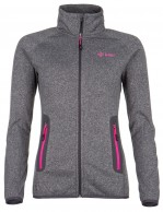 Kilpi Eris-W, womens fleece jacket, grey