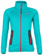 Kilpi Eris-W, womens fleece jacket, turquoise