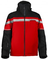DIEL Danny ski jacket, mens, black/red