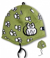Kama Kids hat, cotton/polyacryl, Green