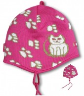 Kama Kids hat, cotton/polyacryl, Pink