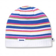 Kama Street beanie, striped, White