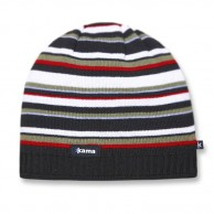 Kama Street beanie, striped, Black